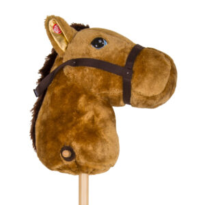 JR006BR Hopping Horse with Wheels Brown